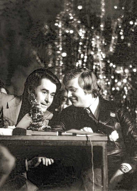 С Андреем Дементьевым на съёмках «Песни-77».