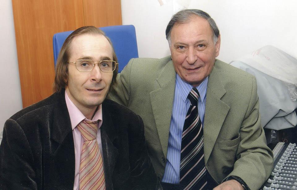 С прославленным звукорежиссёром «Мелодии» Р.Рагимовым в студии